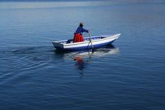 A local women on lake titicaca Stock Photos
