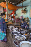Food Market - Bagan - Myanmar (Burma) Stock Photos