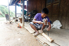 Local Worker in Chin State, Myanmar Royalty Free Stock Photo