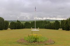 Local WW1 grave para os soldados caídos fotografia de stock royalty free
