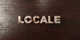 Locale - grungy wooden headline on Maple  - 3D rendered royalty free stock image Royalty Free Stock Photos