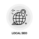 Locale SEO Line Icon Illustrazione di Stock