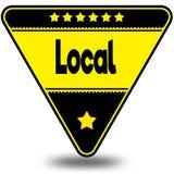 LOCALE sul triangolo nero e giallo con ombra Fotografia Stock Libera da Diritti