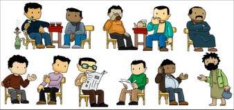Locali che vanno in giro in un caffè Immagini Stock Libere da Diritti