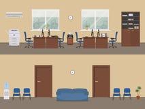Locali di ufficio in un colore beige Fotografia Stock Libera da Diritti