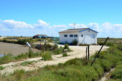 Localice el ostriecole, ostra que cultiva el puerto, Oleron, Charente-Maritime, Francia imágenes de archivo libres de regalías