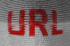 Localisateur de ressources uniformes de code binaire Photos libres de droits