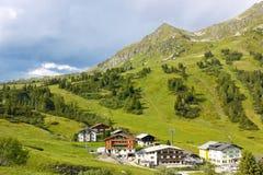 Località di soggiorno alpina in Austria Immagine Stock Libera da Diritti