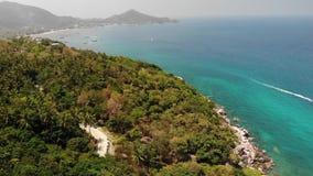 Località di soggiorno d'immersione sull'isola tropicale Vista del fuco della spiaggia di Sairee come componente della località di stock footage