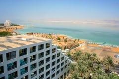 Località di soggiorno degli hotel del mar Morto, Israele Immagine Stock