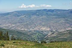 Località di soggiorno del Beaver Creek dalla cima della montagna Fotografia Stock