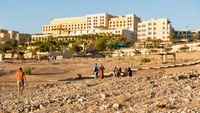 Località di soggiorno del mar Morto, Giordania Fotografie Stock