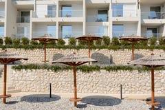 Località di soggiorno dell'hotel in Rabac, Croazia Fotografia Stock Libera da Diritti