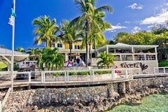 Località di soggiorno della lucciola sul Cay di Elbo, Abaco, Bahamas Fotografia Stock