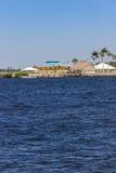 Località di soggiorno della riva del fiume Fotografie Stock Libere da Diritti