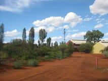 Località di soggiorno della roccia di Ayers, Territorio del Nord, Australia 02/21/18 fotografia stock libera da diritti