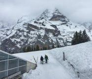 Località di soggiorno della valle di inverno Fotografia Stock