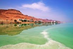 Località di soggiorno di Ein Bokek in mare il mar Morto Fotografia Stock Libera da Diritti