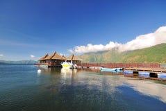 Località di soggiorno di galleggiamento in Kintamani, Bali Fotografia Stock