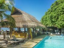 Località di soggiorno di isola tropicale a Cartagine Colombia Fotografie Stock Libere da Diritti