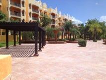 Località di soggiorno di lusso in Cancun, Messico Immagine Stock