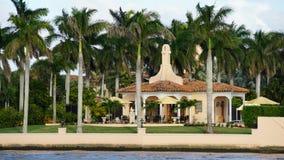 Località di soggiorno di marzo-Un-Lago, Palm Beach, Florida Immagine Stock Libera da Diritti