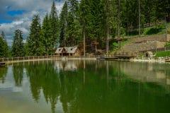 Località di soggiorno di montagna Fotografia Stock