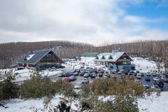 Località di soggiorno di montagna del lago Immagine Stock