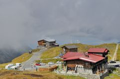 Località di soggiorno di montagna del lago Balea Fotografia Stock
