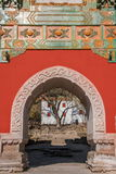 Località di soggiorno di montagna di Chengde, Putuo, provincia di Hebei dal tempio dell'arco di vetro Fotografia Stock