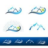 Località di soggiorno di montagna Logo Set Fotografia Stock