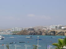 Località di soggiorno di Santa Maria a 50 chilometri al sud di Lima Fotografia Stock Libera da Diritti