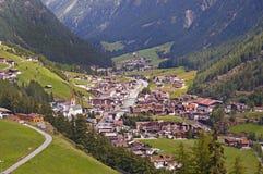 Località di soggiorno di Soelden in Otztal, Tirolo, Austria Fotografie Stock