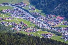 Località di soggiorno di Soelden in Otztal, Tirolo, Austria Fotografia Stock Libera da Diritti