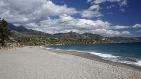 Località di soggiorno famosa di Nerja su Costa del Sol, Spagna Fotografie Stock Libere da Diritti