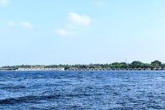 Località di soggiorno di isola di Kuramathi, Maldive fotografia stock libera da diritti