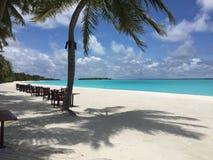 Località di soggiorno di isola di Sun e stazione termale, Maldive fotografia stock