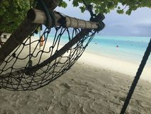 Località di soggiorno di isola di Sun e stazione termale, Maldive fotografia stock libera da diritti