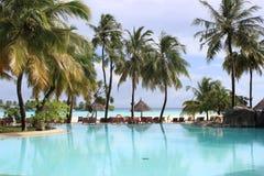 Località di soggiorno di isola di Sun e stazione termale, Maldive immagine stock libera da diritti