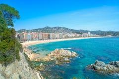 Località di soggiorno di Lloret de Mar, Catalogna, Spagna Fotografie Stock