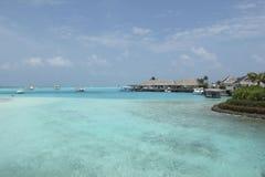 Località di soggiorno in Maldive Immagine Stock Libera da Diritti