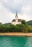 Località di soggiorno Maria Worth Chiesa della st Primus e Felician l'austria Fotografia Stock Libera da Diritti