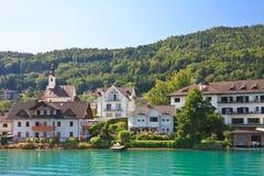 Località di soggiorno Maria Worth. Worthersee). L'Austria Fotografie Stock Libere da Diritti