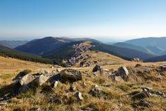 Località di soggiorno di montagna di Ranca in Parang Carpathians fotografie stock libere da diritti