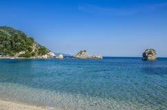 Località di soggiorno di Parga - della Grecia - Mar Ionio fotografia stock