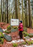 Località di soggiorno di stazione termale famosa Marianske Lazne in repubblica Ceca Donna n fotografia stock