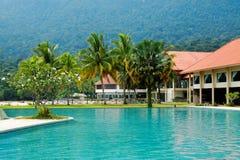 Località di soggiorno tropicale in Malesia (Damai, Borneo) fotografie stock libere da diritti