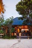 Località di soggiorno tropicale sull'isola di Koh Mud Sum vicino all'isola di Samui, Thailan fotografia stock