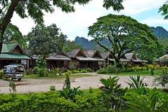 Località di soggiorno Vang Vieng, Laos Fotografia Stock