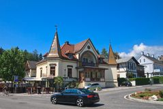 Località di soggiorno Velden Worthersee l'austria Fotografie Stock Libere da Diritti
